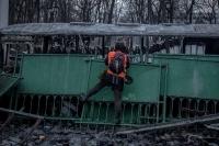Киев, утро после погрома (20.01.2014 г.)