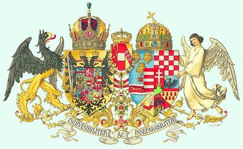 Большой герб Австро-Венгрии. Так выглядел приличный герб великой державы в добрые старые времена