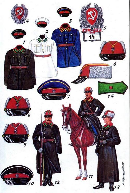 Униформа советской милиции, 1923 г.