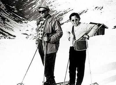 В Альпах с сыном. Берег здоровье, собирался жить долго<br /> и счастливо