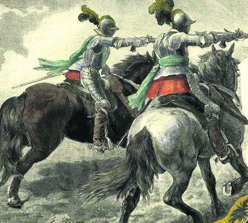 Рейтары. Половину польской армии составляли немецкие наемники