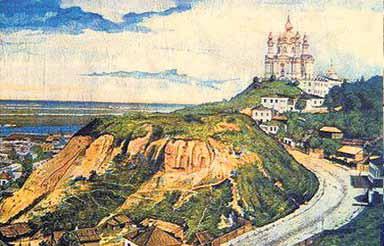 Андреевский спуск. Так он выглядел в конце XIX века.<br />Наш Подол.