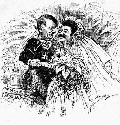 Английская карикатура. Так изобразили союз двух<br /> диктаторов