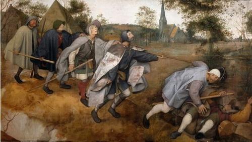 «Притча о слепых». Типичный европейзаж в исполнении Босха
