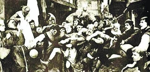 Напугали монаха. Церковь была в ужасе от футболистов Средневековья