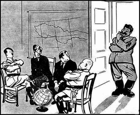Карикатура на Мюнхен 38-го