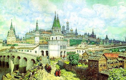 Москва Белокаменная. В эпоху Смутного времени неединожды испытала навалу украинских наемников, но их слезам неповерила