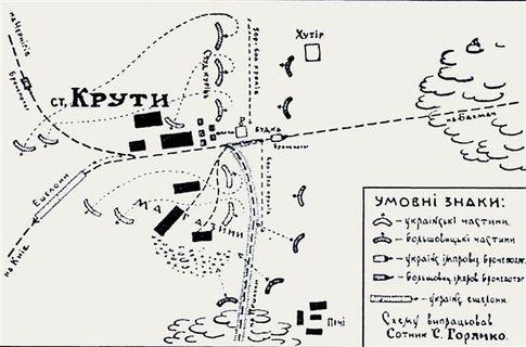 Карта боя. Бронепоезд красных сдерживала одна пушка на платформе