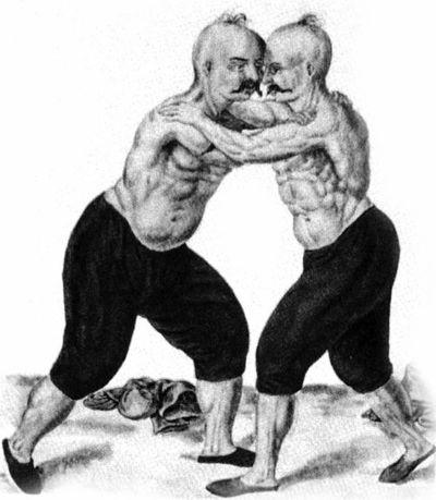 Турецкие борцы XVI века. Усы и прически запорожских казаков пришли к нам с Востока