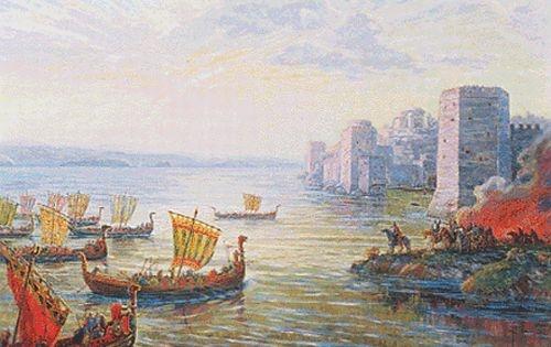 Русы у стен Царьграда. В 860 году столицу Византии спасло только Божье чудо —внезапный шторм