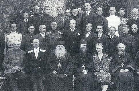 Отцы-основатели Русского Общевоинского Союза. Второй слева в первом ряду — генерал Врангель