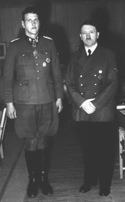 Рядом с Гитлером. Скорцени всегда боготворил фюрера