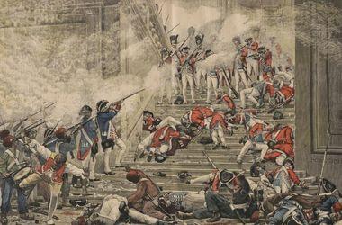 Они выполняли приказ. Почти никто из солдат полка, защищавших дворец Тюильри, не остался в живых. Они сражались за каждую лестницу, каждый зал.