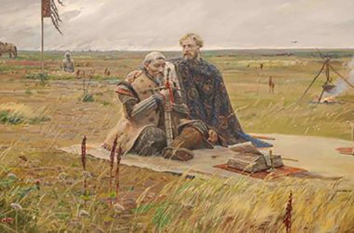 Сартак и Александр Невский.<br /> Современный художник Павел Рыженко идиллически изобразил отношения Руси и<br /> Орды.Но сын Батыя действительно был христианином — это факт.