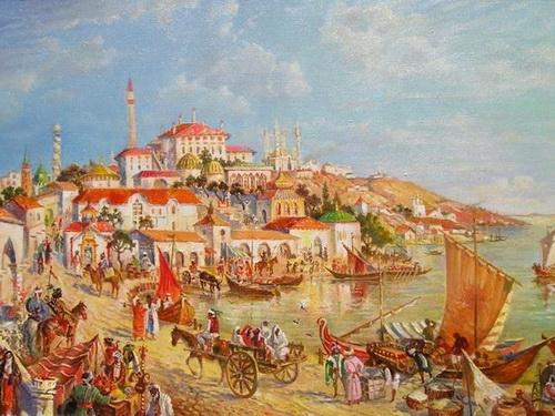 Сарай-Бату. Столица Золотой Орды тянулась вдоль левого берега Волги на 15 км. Ее населяло 75 тыс. человек