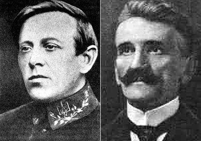 Диктатор ЗУНР Евгений Петрушевич (справа) не сработался с Петлюрой. Атаман Петлюра (слева) тоже недолюбливал своего коллегу.