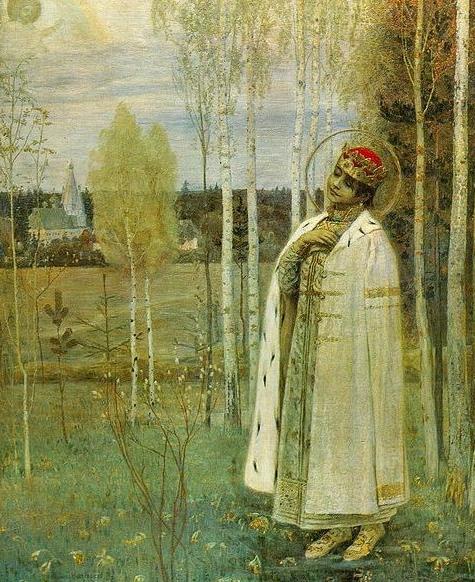 Икона. Убитого в Угличе царевича Димитрия православная церковь считает святым