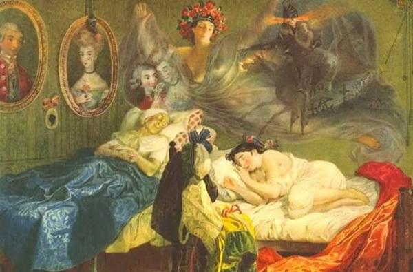 Сон бабушки и внучки. Шевченко умел весело подшучивать над женскими фантазиями.