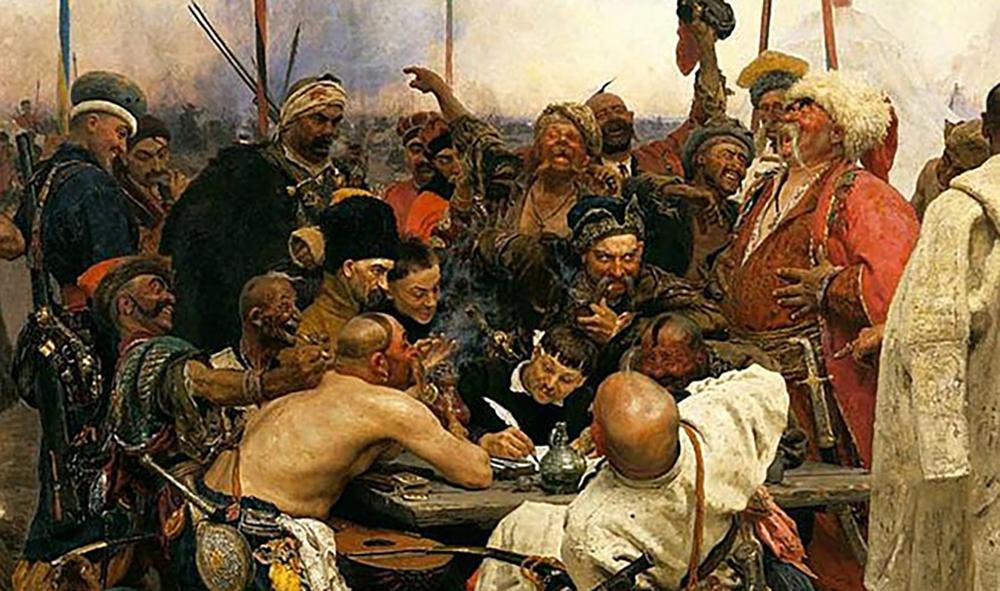 Наследие Репина. По логикеМинобразования, запорожцы должны быть турками, потому что писали письмо...турецкому султану