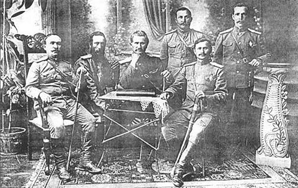 Атаманы южных станиц Семиреченского казачьего войска. Фото 1913