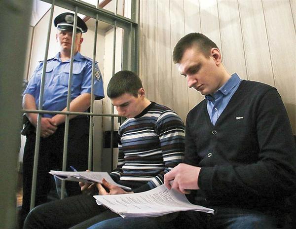 Заседание суда. Сергей Зинченко и Павел Аброськин